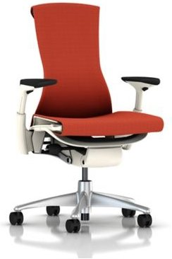 buy herman miller embody chair home office desk task chair with adjustable arms titanium base white frame and upgraded tomato red balance fabric plus