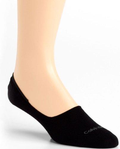 Calvin Klein Men's Bold Color No Show Liners, Black, Large