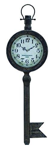 Benzara Metal Wall Clock with Elegant Design, Antique Finish