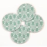 Cotton Nursing Breast Pads Trellis Pattern Set of 2 Pairs - 1