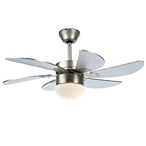 Modern 30 Inch 76 cm Ceiling Fan With Light & Remote Control