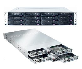 Supermicro 2U Server SYS-6026TT-BIBXF Barebone 1400W Gold Level Power supply Dual LGA1366 3 Hot-swap 3.5'' drive bays LP expansions Matrox G200eW Dual Gigabit Ethernet IPMI2.0 Full Warranty