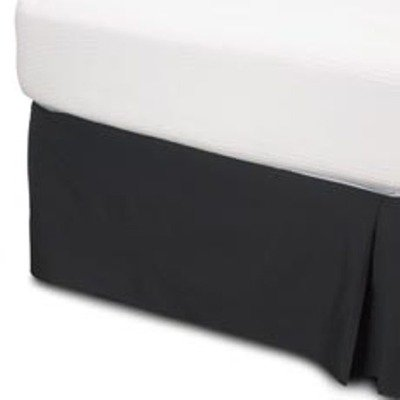 "400 Thread Count 100% Egyptian Cotton Solid Black King / California King 21"" Drop Length Bed Skirts"