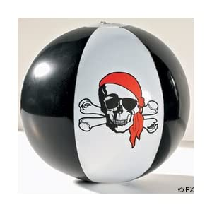 Click to buy Pirate Birthday Party Ideas: 12 Pirate Beach Balls from Amazon!