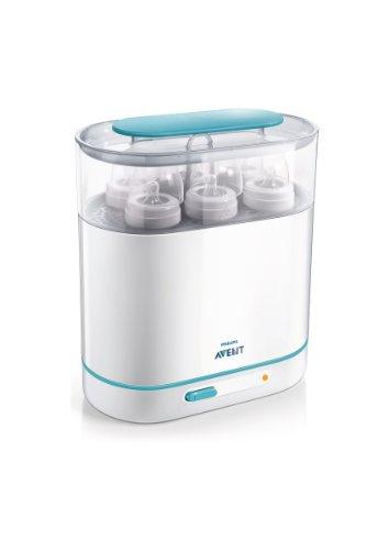 Philips Avent SCF284/02  Sterilizzatore a vapore elettrico 3 in 1, Dimensioni regolabili per biberon e accessori