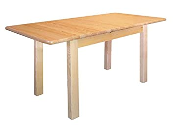 Table extendable solid, natural pine wood Junco 236F - Dimensions 75 x 90 x 140 x 210 cm