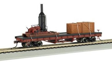 Bachmann-Trains-Log-Skidder-with-Crates-On-40-Log-Car-HO-Scale
