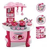 Az Import & Trading Ps801 Deluxe Kitchen Appliance Cooking Play Set With Lights & Sound