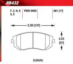Hawk Performance HB432Z.661 Performance Ceramic Brake Pad