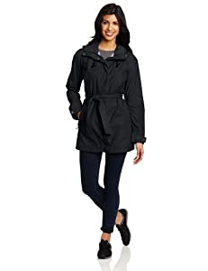 Columbia Women's Pardon My Trench Rain Jacket, Black, X-Large