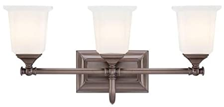 Malachi 3 light Vanity, 3-LIGHT, HARBOR BRONZE