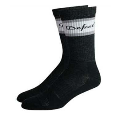Image of DeFeet Classico Grey/White Wool Cycling/Running Socks - CLAGRW (B000RQ3HF2)