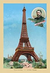 Paper poster printed on 20 x 30 stock. Eiffel Tower at the Paris Exhibition, 1889
