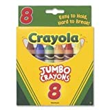 So Big Crayons, Large Size, 5 x 9 16, 8 Assorted Color Box