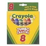 Crayola 8-Pack Crayons - Jumbo (So Big) Size (Single Box)