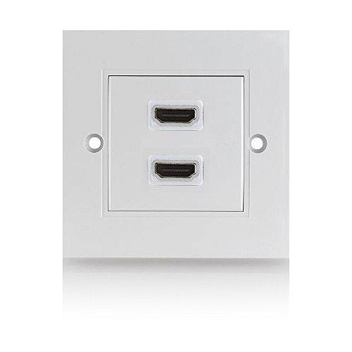 deleycon hdmi dose 2 port unterputz 3d fullhd unterst tzt neustes hdmi. Black Bedroom Furniture Sets. Home Design Ideas