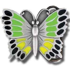 Pewter Belt Buckle - Butterfly Green Pewter Belt Buckle - Butterfly Green