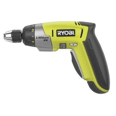 ryobi 4v lithium ion screwdriver ryobi cordless drill. Black Bedroom Furniture Sets. Home Design Ideas