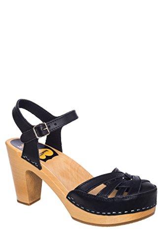Agneta Mid Heel Clog Sandal