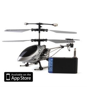 3 Channel I-Helicopter 777-172 with Gyro Controlled by iPhone/iPad/iPod Touch(Sliver)