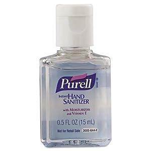 PURELL GOJ20075C Instant Hand Sanitizer 0.5 oz. Flip-Cap Bottles 500/Carton, Clear