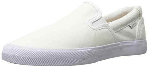 C1RCA Men's Corpus Skate Shoe, White/Gum/Canvas, 11 M US