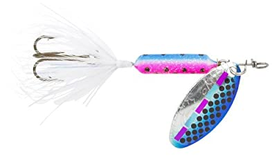 Yakima Bait Wordens Original Rooster Tail Spinner Lure Tinsel Rainbow Fry from Yakima Bait