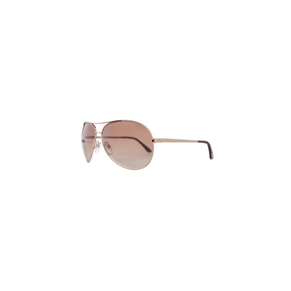 dcea4171e3 Tom Ford Designer FT0035 772 Gold Charles Women Sunglasses on PopScreen