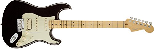 Fender American Deluxe HSS Stratocaster Electric Guitar, Maple Fingerboard - Black (Fender Electric Guitar Deluxe compare prices)