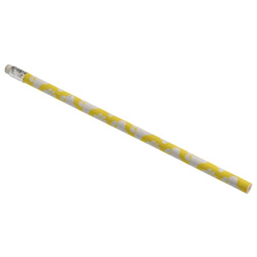 Dozen Paw Print Design Yellow & White Wooden #2 Pencils - 7.5""