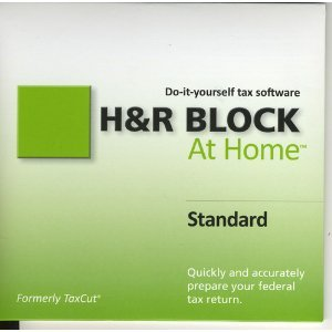 H & R Block At Home Standard Tax Software for 2010