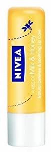 Nivea Lip Care A Kiss Of Milk and Honey Natural Defense (Pack of 6)
