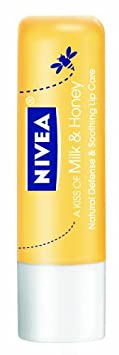 Nivea Lip Care A Kiss Of Milk and Honey Natural Defense (Pack of 6) $9.17