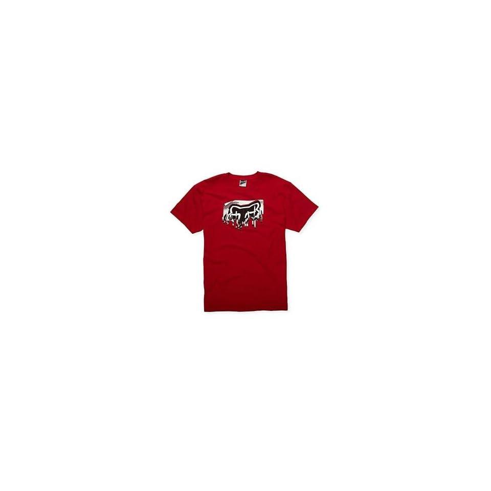 Fox Racing Shredder T Shirt   Medium/Red Automotive