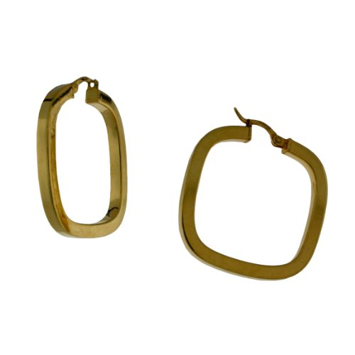 Sterling silver 14 karat Gold Plated, Square tubing, square hoop earring.
