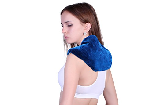 Neck + Shoulder Wrap - Hot & Cold Therapy - Natural Clay Beads - provides moist heat or soothing cool stress and pain relief (Microwave Heat Pack Aromatherapy compare prices)