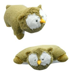 "SMALL OWL PILLOW PET, ""PLUSH & PLUSH"" BRAND, 11"""