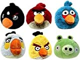 Angry birds - Lot de 6 peluches angry birds - Hauteur 13 cm