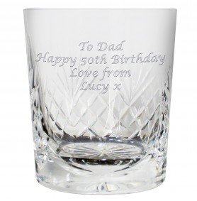 24% LEAD CRYSTAL PERSONALISED ENGRAVED WHISKY TUMBLER AND GIFT BOX