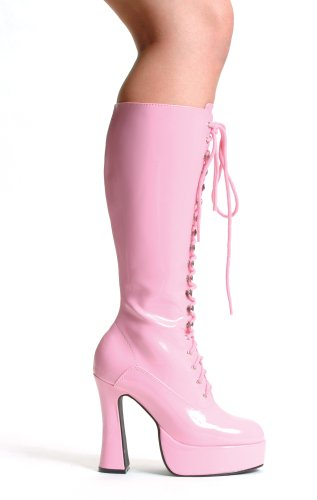 Ellie Shoes - EASY, 5 Heel Knee Boots With Zipper in 6 Colors