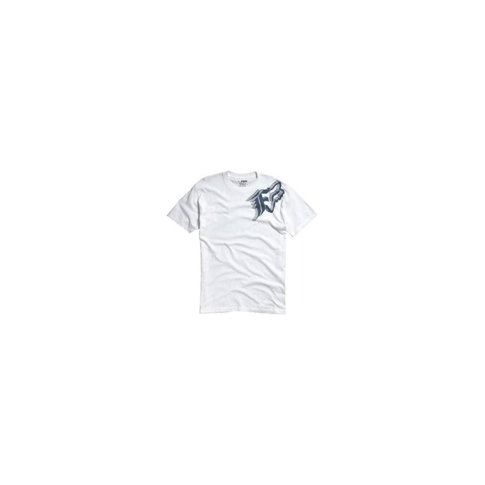 Fox Racing Intruder T Shirt   Large/White Automotive