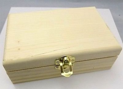 Solid Wood Hinged Lid Wedding Favor Craft Project Gift Box 6″ x 4″ x 2″ BOX-0013
