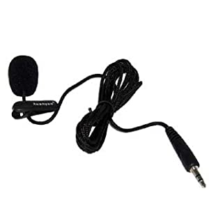 Mini Compact 3.5mm Jack Audio MIC Microphone for Skype Yahoo Google VoIP Windows XP/Vista/7/8 Webcam Vedio Internet Call Laptop PC with 1m One meters cable