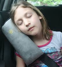 Seatbelt Travel Neck Support Pillow SOFT Cover (biege) (Car Headrest Pillow Biege compare prices)