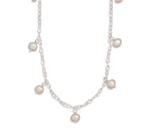 16 Inch Necklace with 11 Cultured Freshwater Pearls