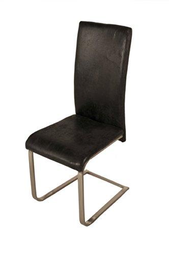 SAM-Polster-Stuhl-Freischwinger-JULIA-in-grauer-Wildlederoptik-komplett-mit-Stoff-bezogen-chromfarbene-Edelstahlfe-angenehme-Polsterung-hohe-Rckenlehne-fr-optimalen-Sitzkomfort