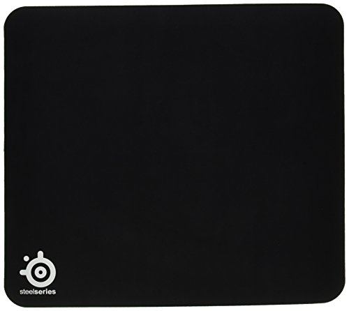 SteelSeries QcK Heavy, Thick Gaming Mouse Pad, 450mm x 400mm, Cloth, Rubber Base, Laser & Optical Mouse Compatible - Black