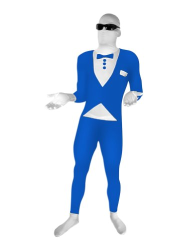 Blue Tuxedo Full Body Suit - Adult XL