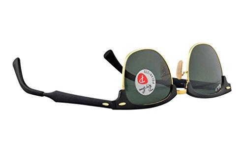 ray ban unisex black aluminium clubmaster sunglasses