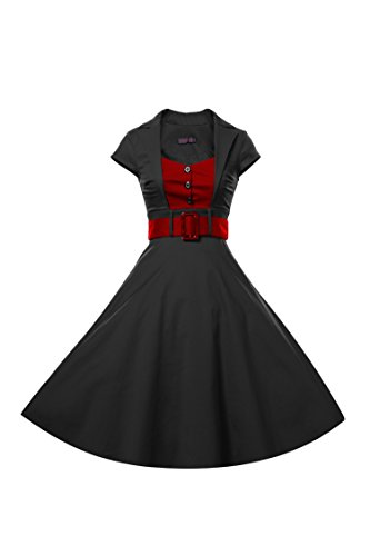 ILover Women's Classy Vintage Audrey Hepburn Style 1940's Rockabilly Evening Dress